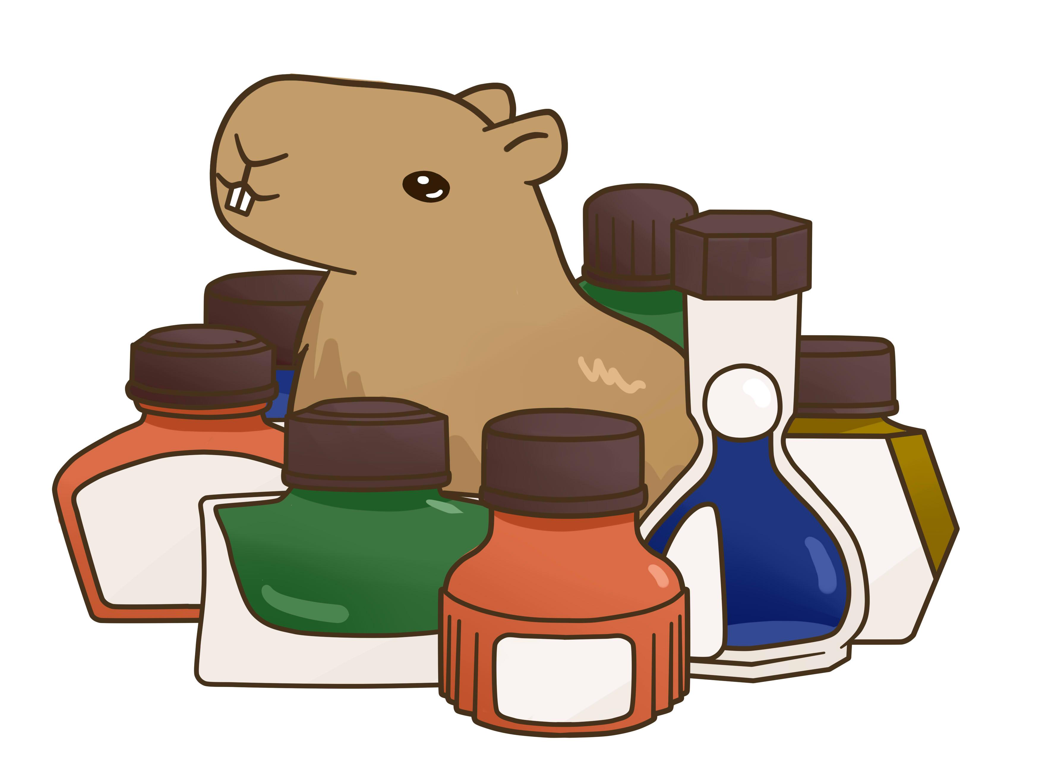 fountain pen capybara